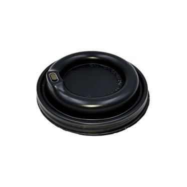 Μαύρο Καπάκι Πιπίλα Υπερυψωμένη για Χάρτινο Ποτήρι
