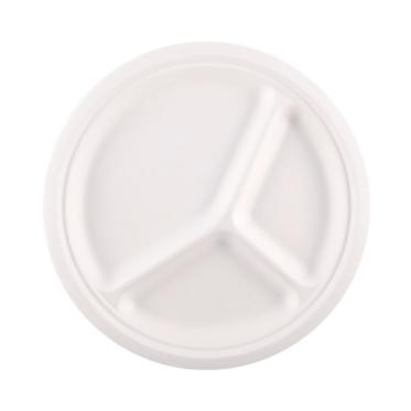 Πιάτο στρογγυλό από ζαχαροκάλαμο