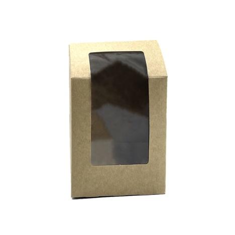 Κουτί Κραφτ Τορτίγιας Με Παράθυρο Ατύπωτο