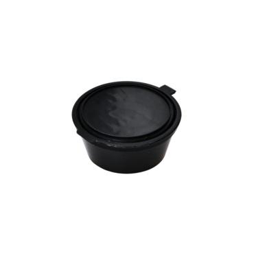 Σωσάκι Μαύρο Με Ενσωματομένο Καπάκι (70cc) 2oz