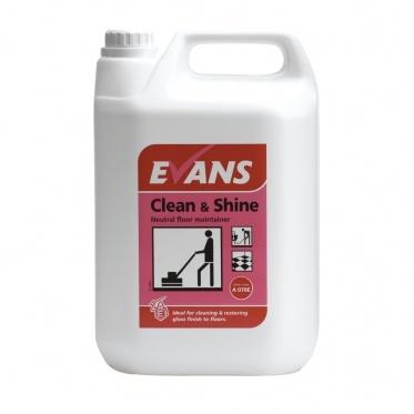 Υγρό Καθαριστικό Γυαλιστικό Clean And Shine Evans